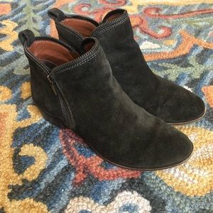 Lucky brand olive green booties